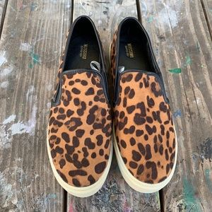 New Mossimo Leopard Slip-on Tennis Shoes, Size 10
